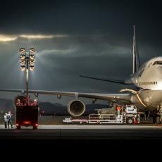 米子空港 ANA B747 初飛来